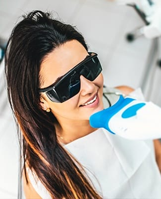 woman getting whitening